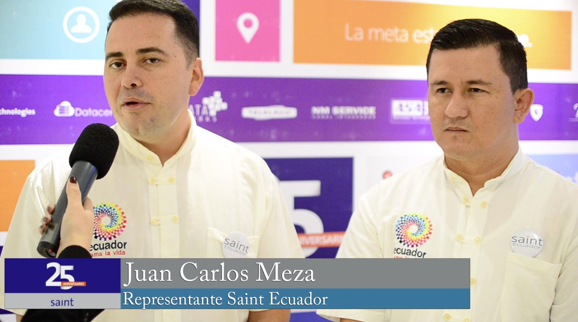 Juan Carlos Meza representante de Saint Ecuador.