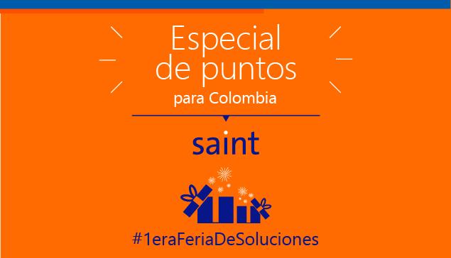 Colombia: especial de puntos saint #1eraFeriaDeSoluciones.