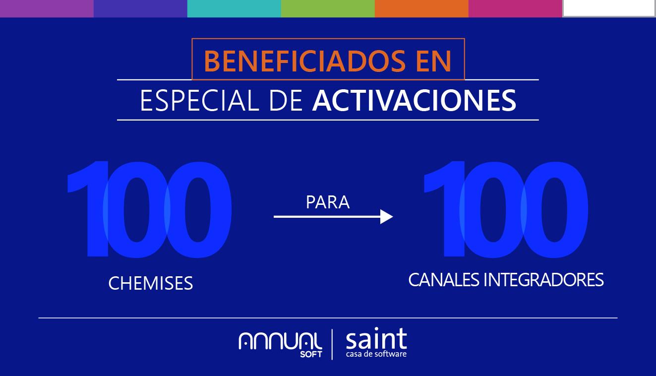 """Lista de beneficiados especial de ACTIVACIÓN, """"100 Chemises para 100 canales integradores"""""""