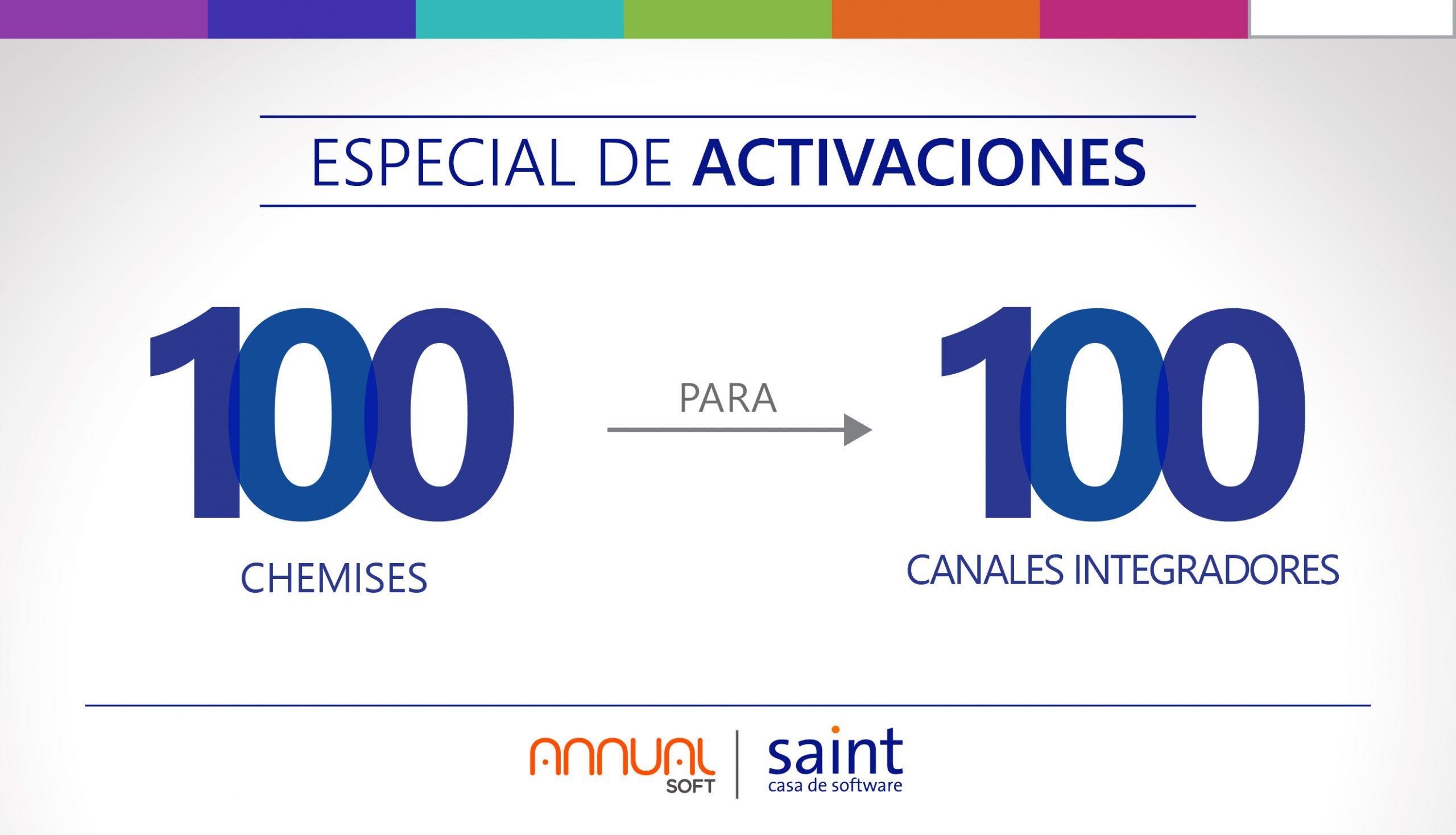 Especial de ACTIVACIÓN «100 Chemises para 100 canales integradores».