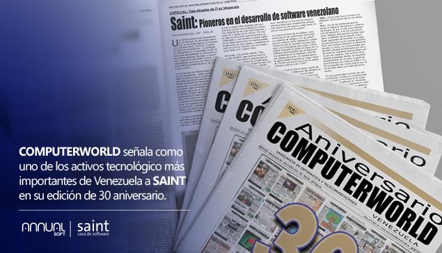 Computerworld señala a saint como uno de los activos más importantes de Venezuela.
