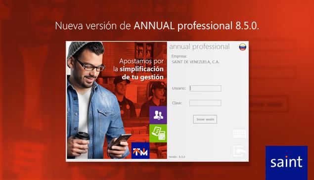 Nueva versión de ANNUAL professional 8.5.0.