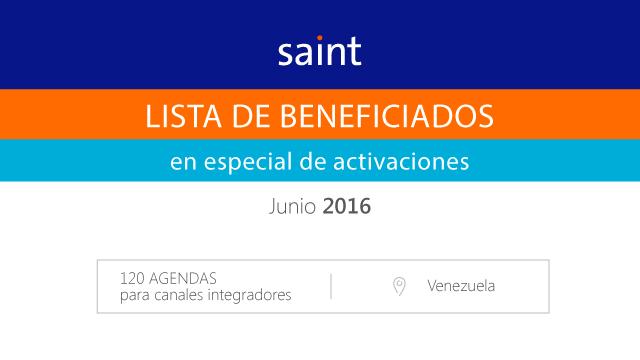 """Lista de beneficiados del especial de ACTIVACIÓN """"120 agendas ANNUAL"""""""