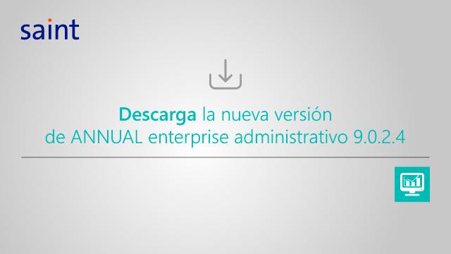 Nueva actualización de ANNUAL enterprise administrativo