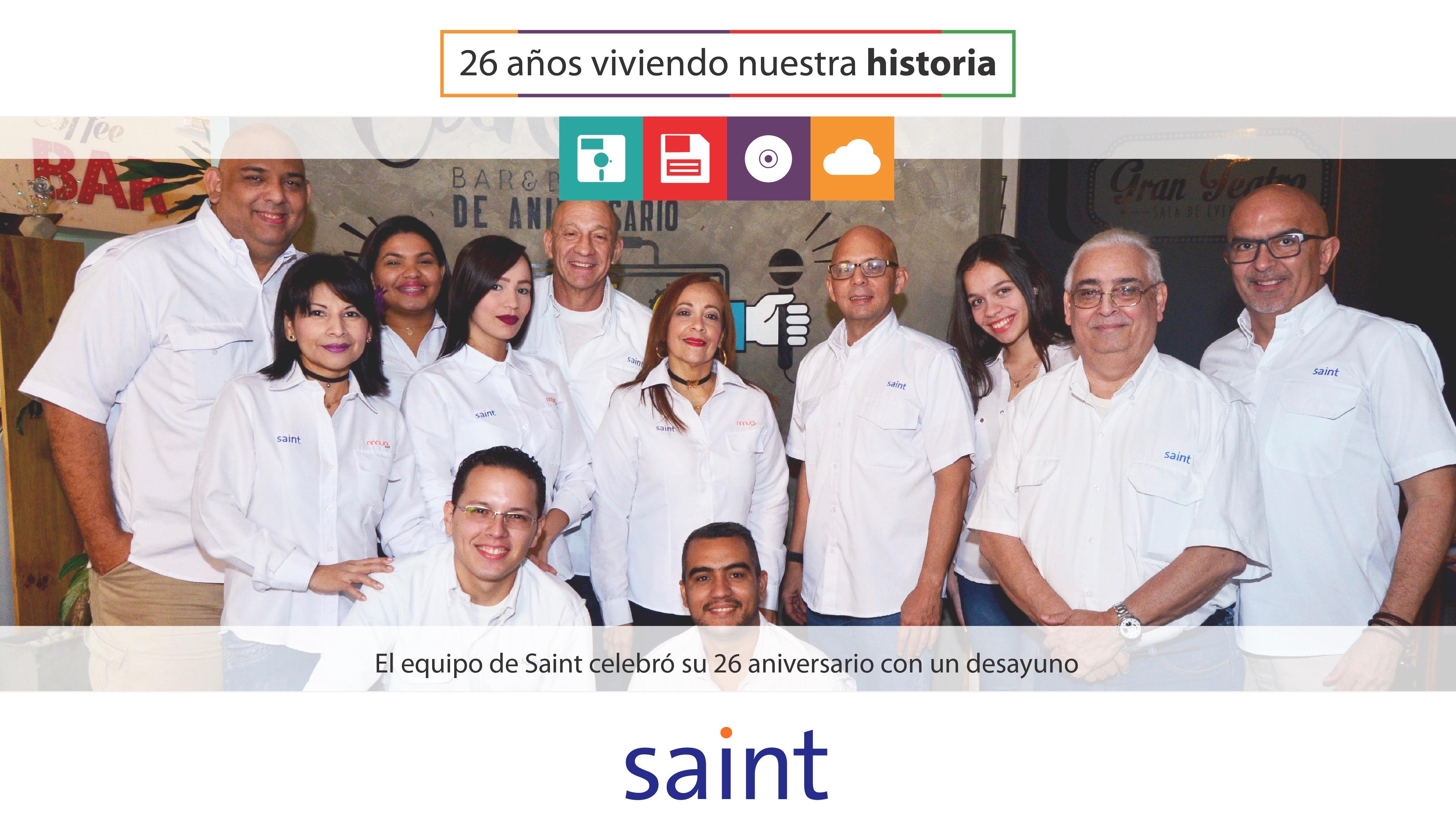 En casa matriz celebramos con un desayuno el 26 aniversario de SAINT