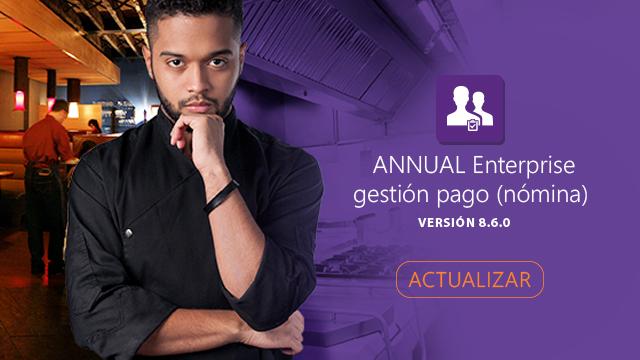 Disponible nueva versión de ANNUAL Enterprise gestión pago.