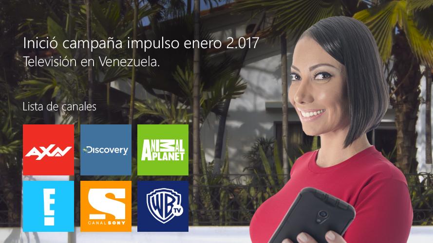 Inició campaña impulso enero 2.017 para Televisión en Venezuela.