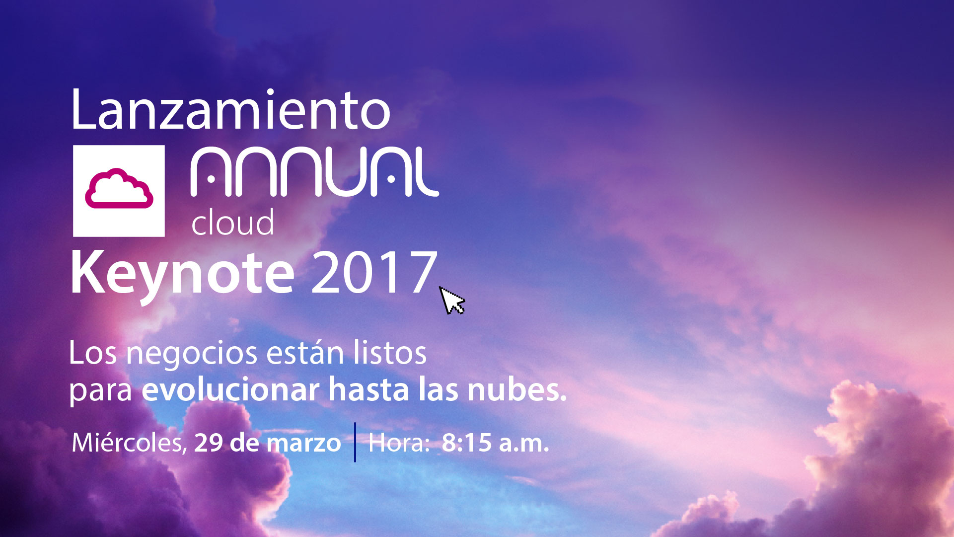 Video completo del Keynote 2017 Annual Cloud