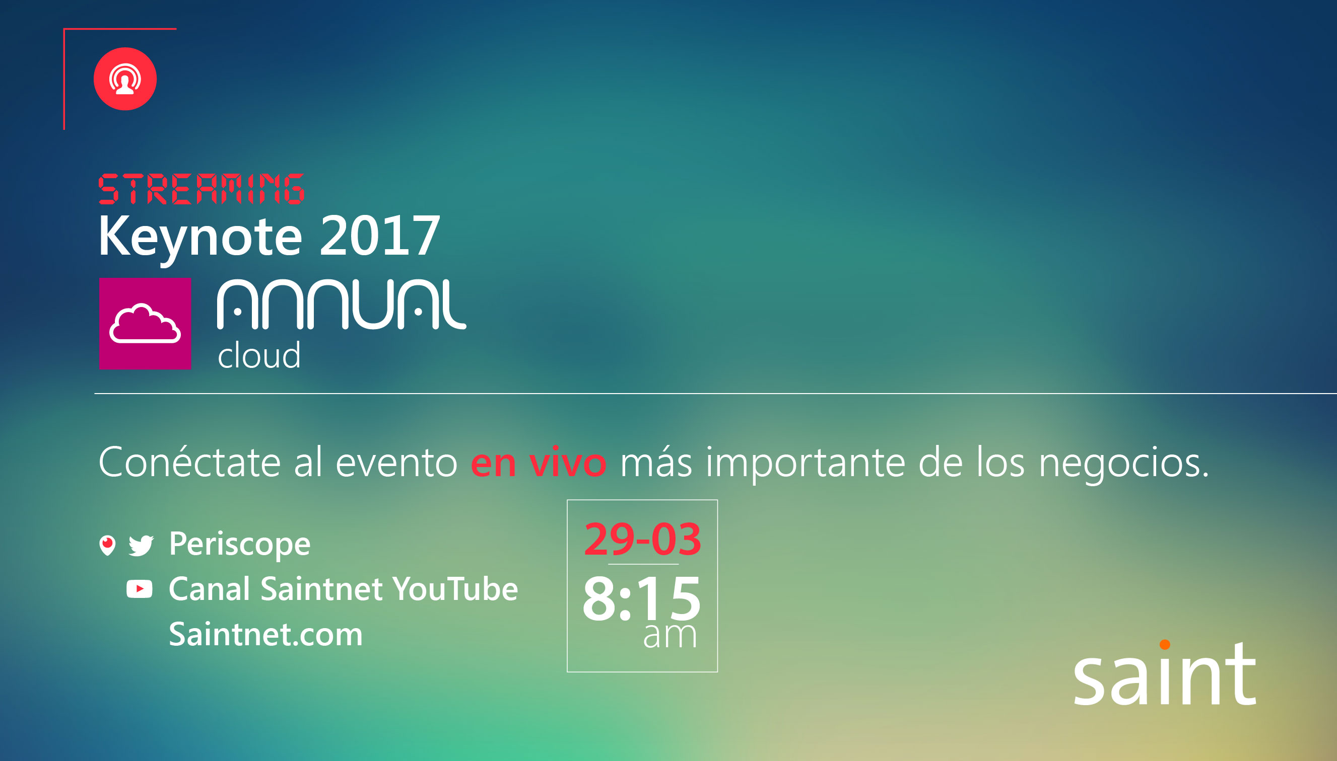 Streaming keynote 2017 Annual Cloud