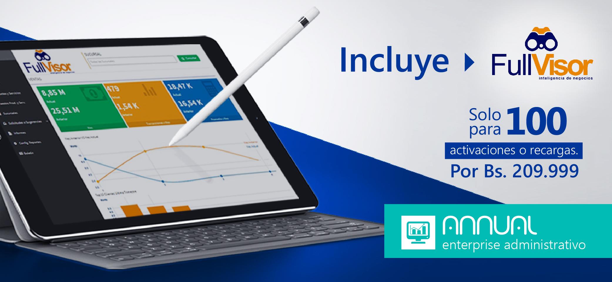 Annual enterprise incluye FullVisor (100 aplicaciones disponibles)