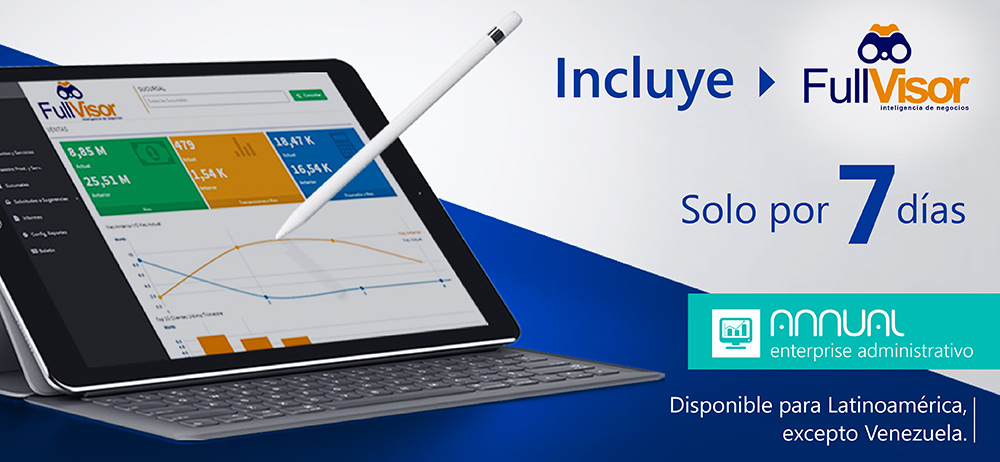 Para toda Latinoamérica Annual enterprise con FullVisor al mismo precio.