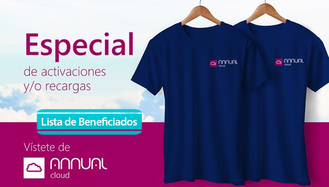 Beneficiados del especial «queremos que te vistas de Annual Cloud»
