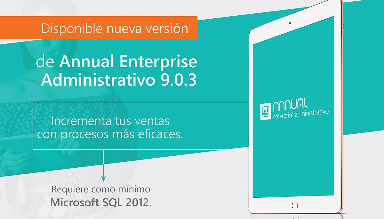 Disponible nueva versión de ANNUAL enterprise administrativo 9.3.0