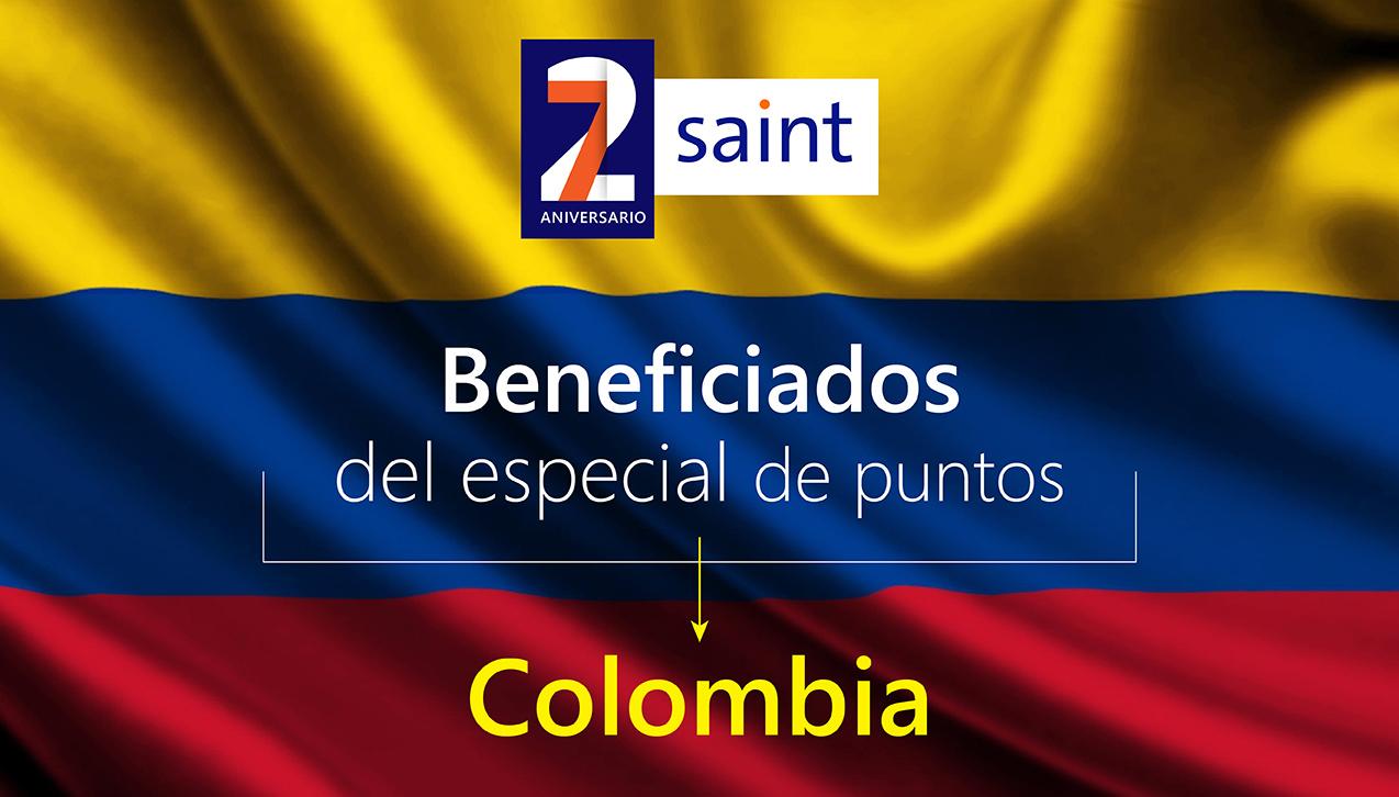 Lista de Beneficiados Especial de PUNTOS 27 aniversario, Colombia.