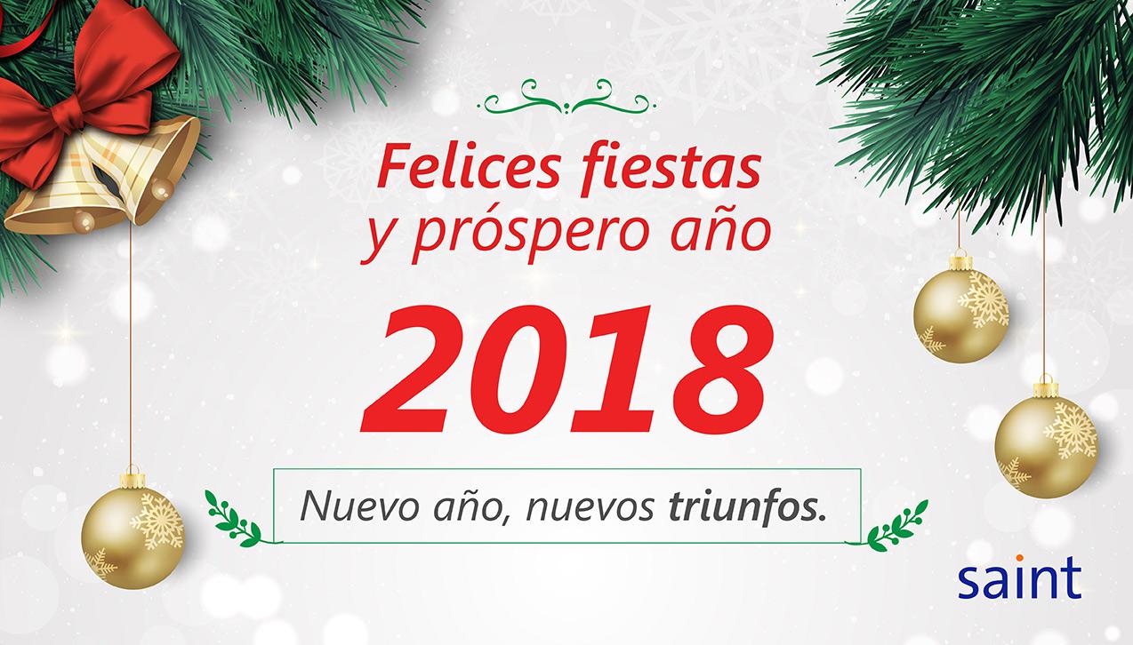 """Saint les desea """"Felices Fiestas 2017"""""""