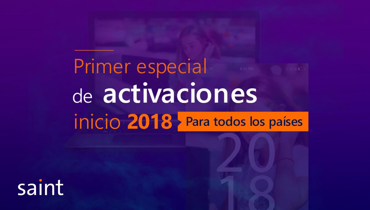 """Primer Especial de ACTIVACIONES 2018 """"te devolvemos UN punto"""""""