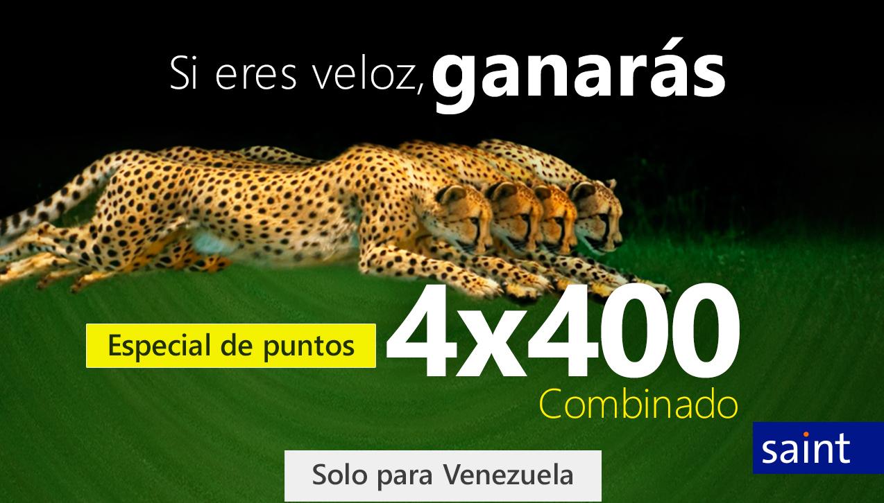 Especial de puntos 4X400 combinado para Venezuela