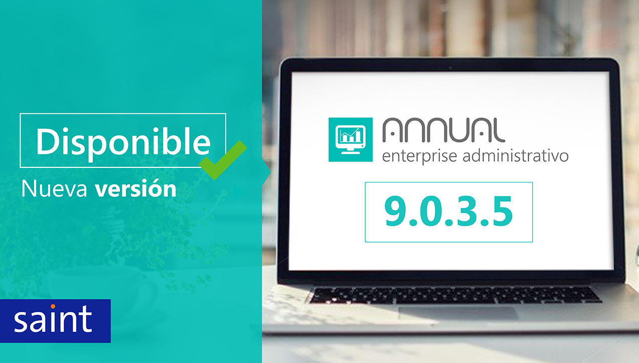 Disponible ANNUAL enterprise administrativo versión 9.0.3.5
