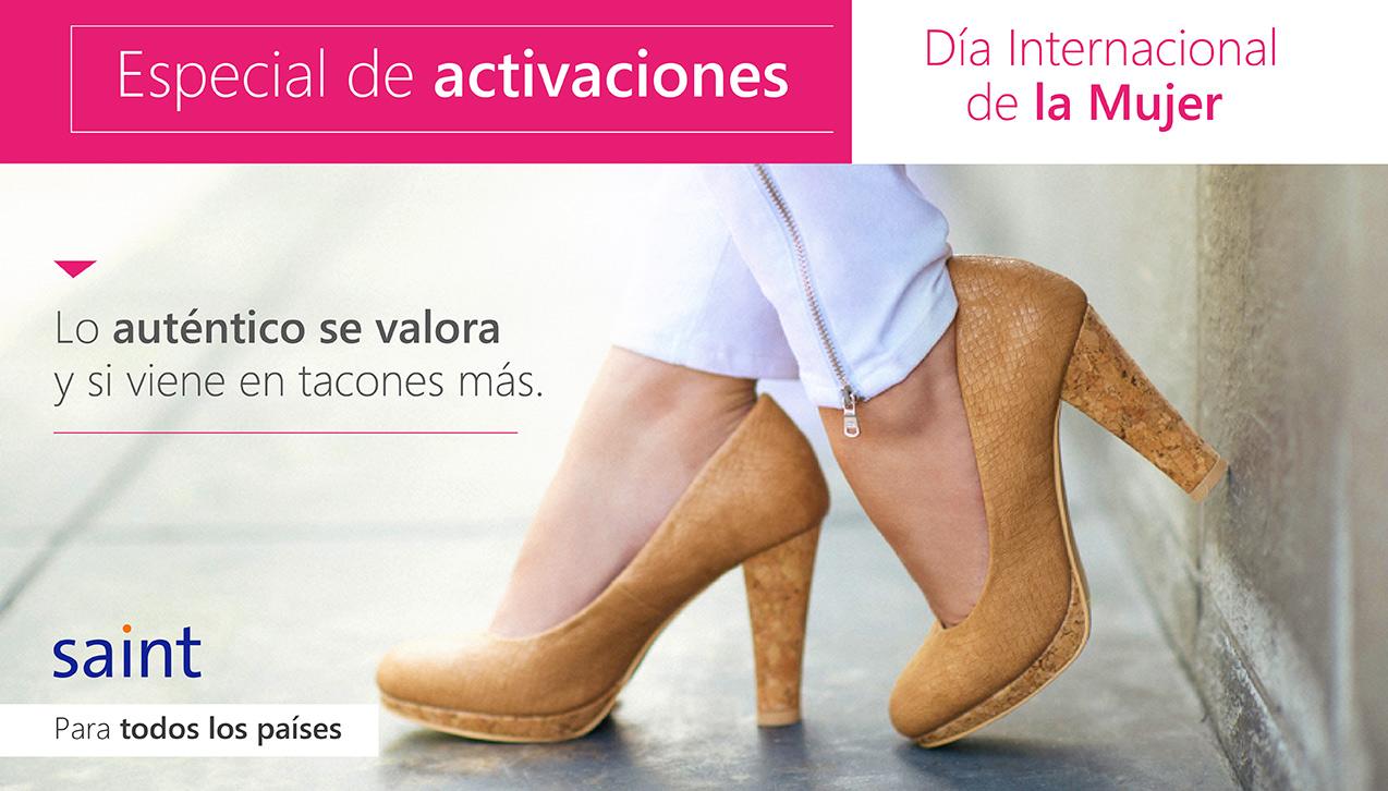 Especial de activaciones, Día Internacional de la Mujer, para todos los países