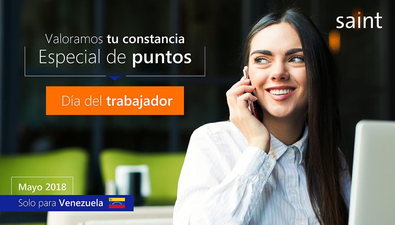 """Especial de puntos """"Día de Trabajador"""" para Venezuela."""