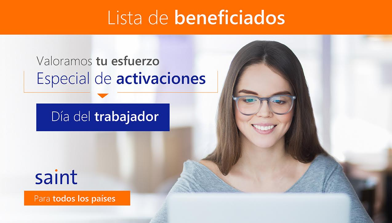 """Lista de beneficiados del especial de ACTIVACIONES """"Día Internacional del Trabajador"""""""