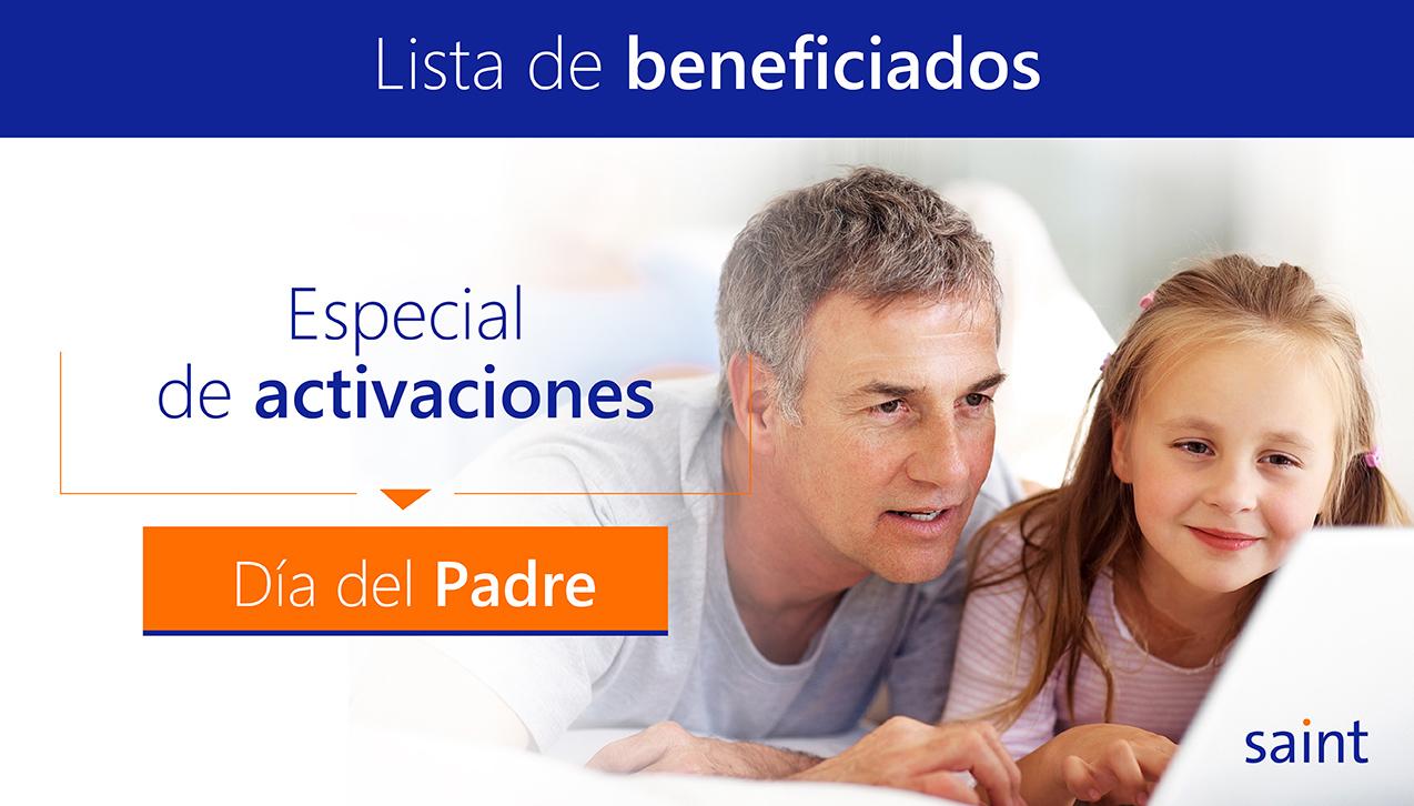 """Lista de beneficiados del especial """"Día del Padre"""" todos los países"""