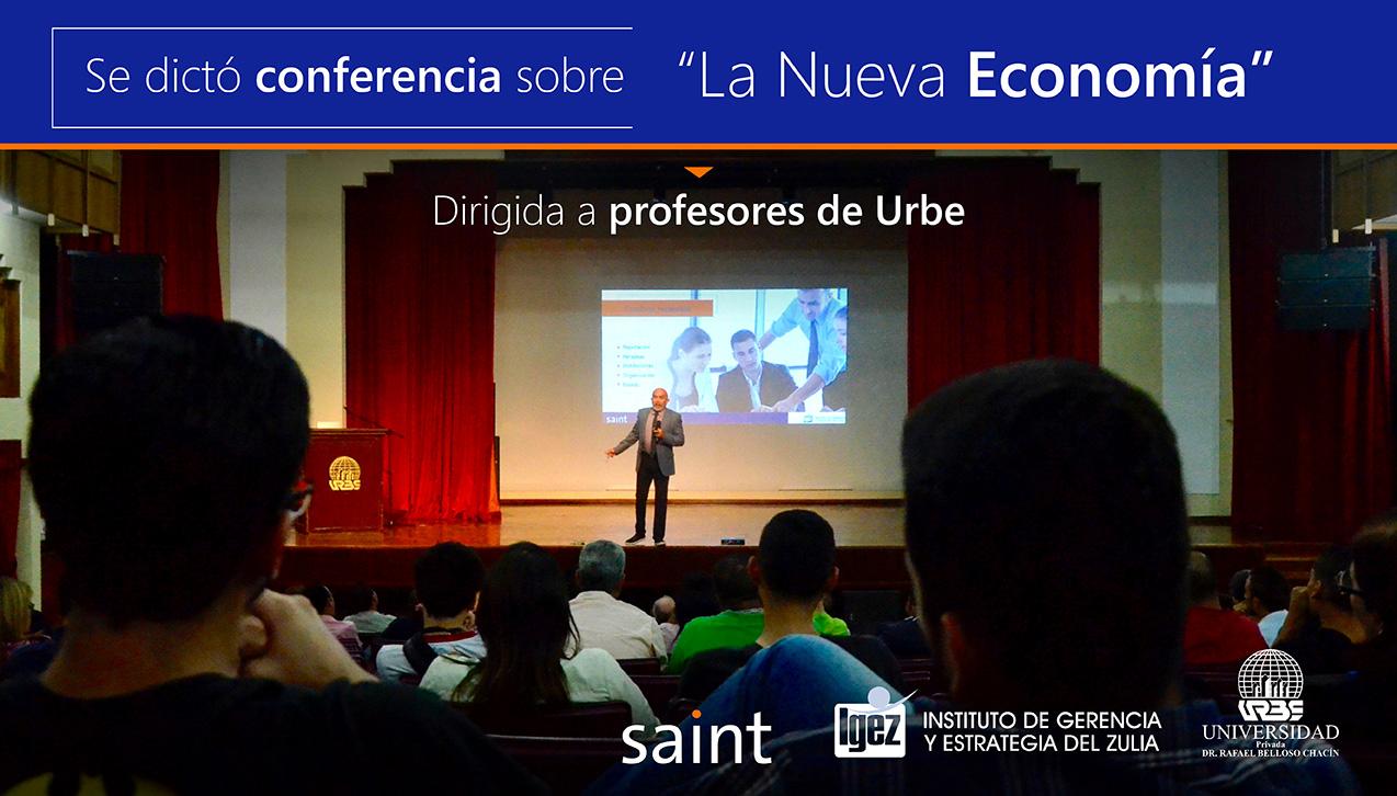 Conferencia sobre la Nueva Economía en la URBE