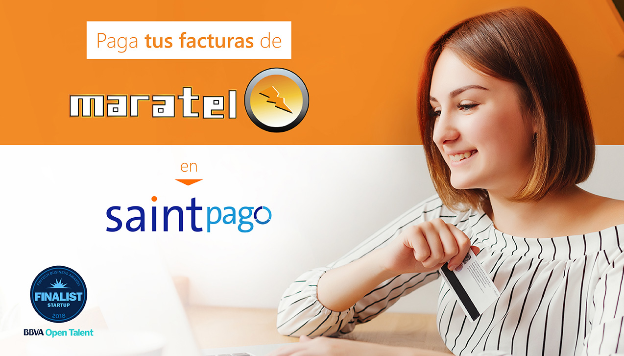 Paga tu factura de Maratel Marketing en Saintpago