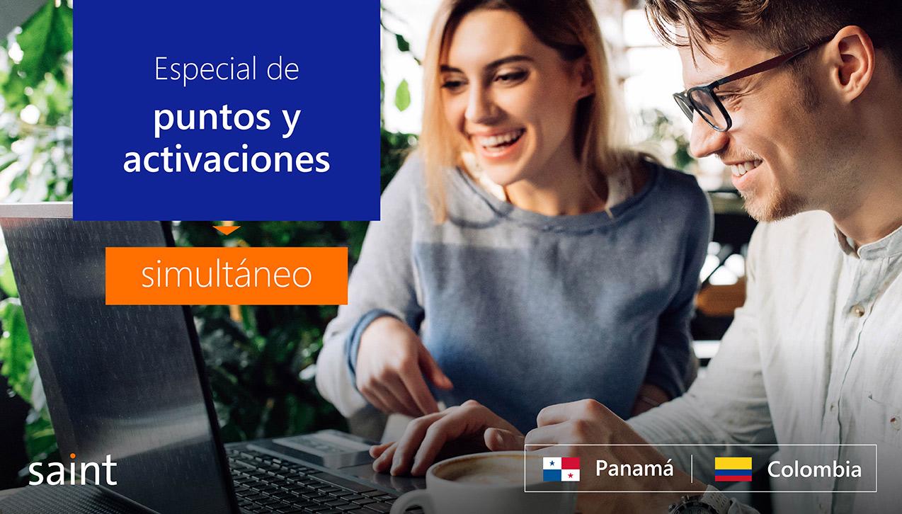 Especial de puntos y activaciones simultáneo, Colombia y Panamá