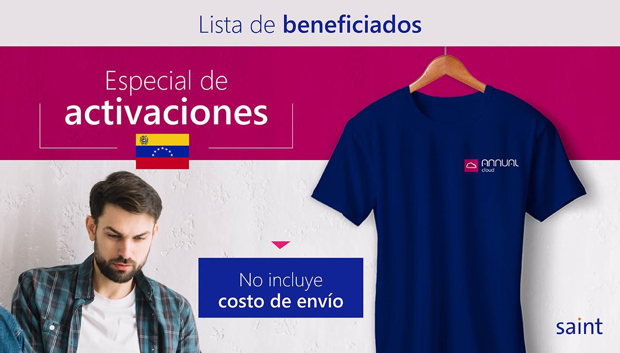 Lista de beneficiados del especial de ACTIVACIONES para Venezuela. Diferénciate de otros