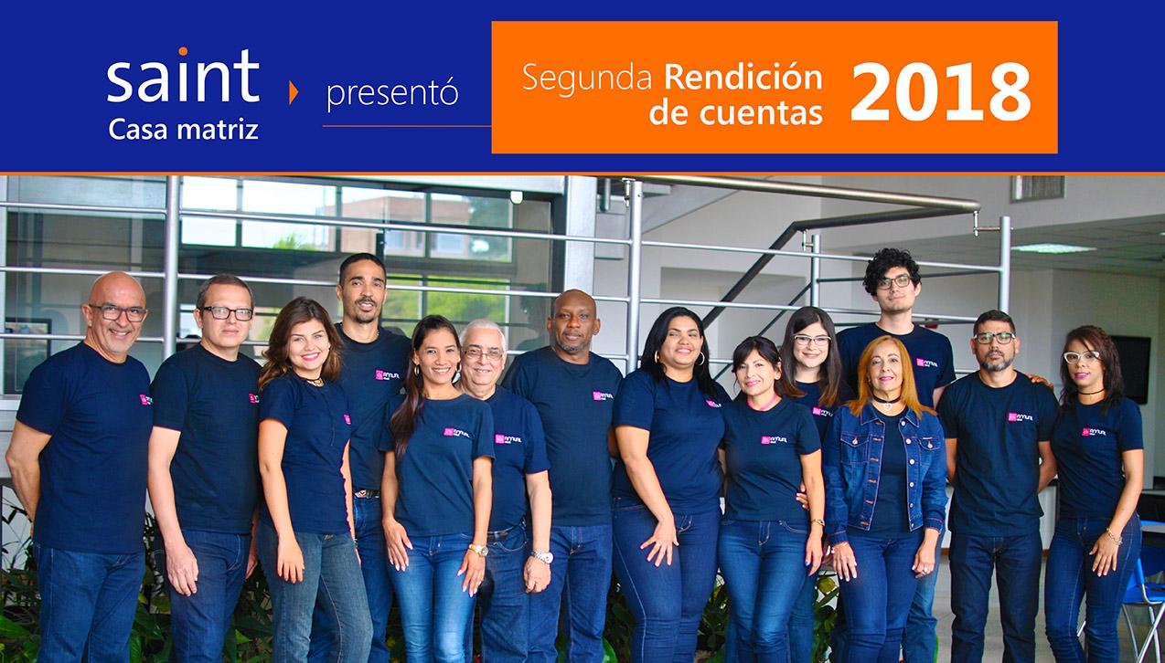 Saint casa matriz rindió cuentas por segunda 2018