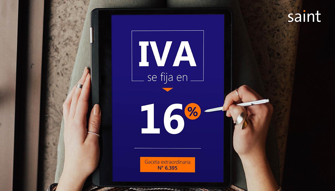 Venezuela: nueva alícuota impositiva general del IVA se fija en 16%