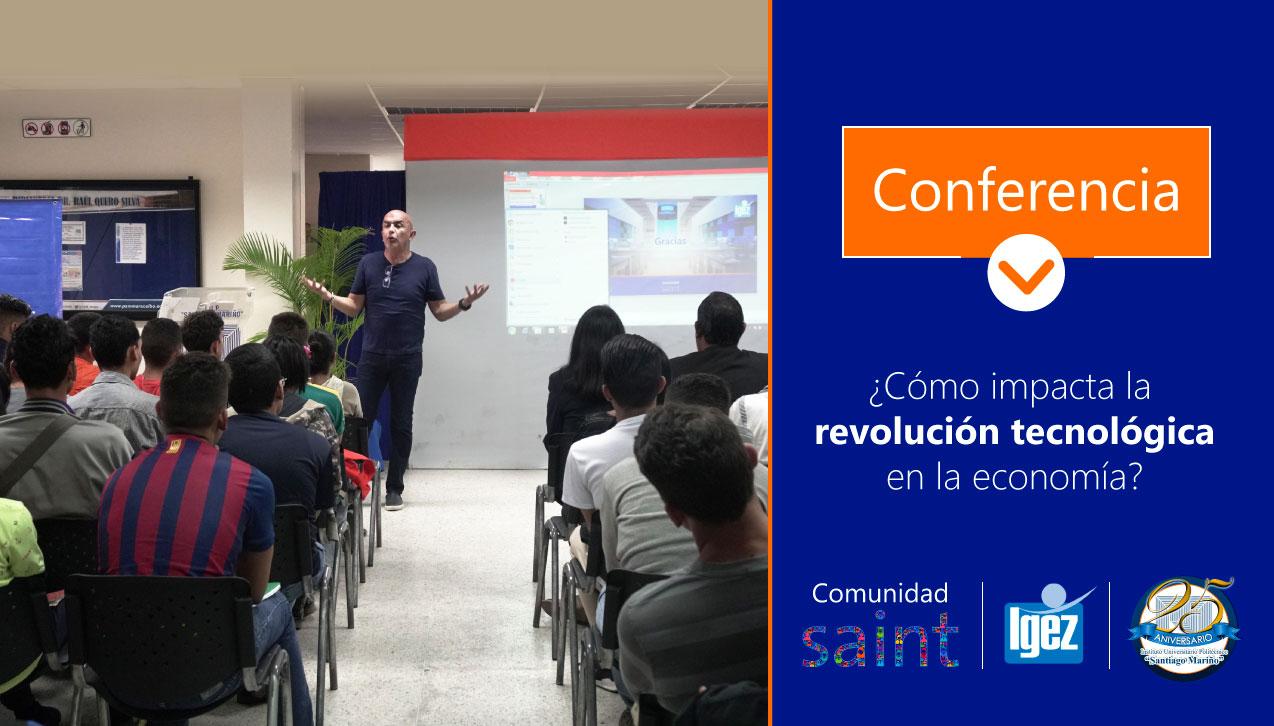 Dimos conferencia sobre la Nueva Economía en «Santiago Mariño»