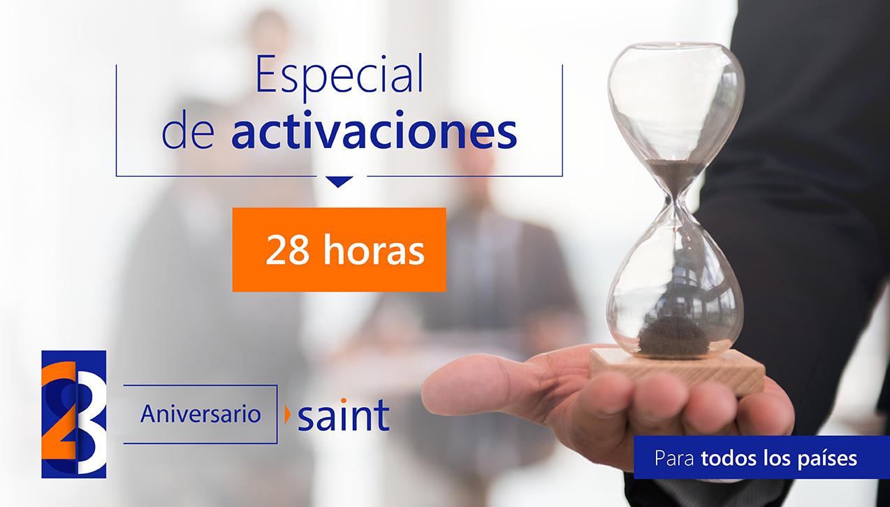 Especial de activaciones 28 aniversario, 28 horas.