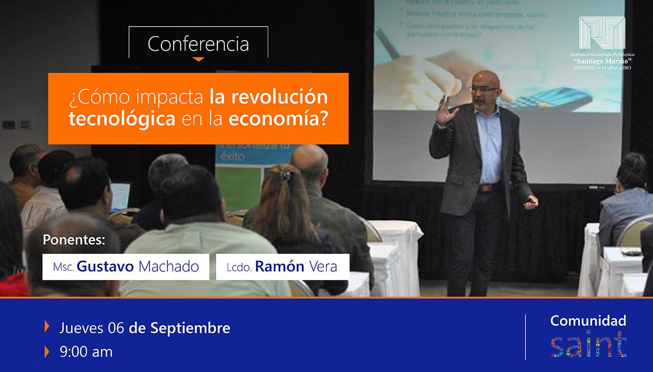 Conferencia sobre la nueva economía, en el «Santiago Mariño»