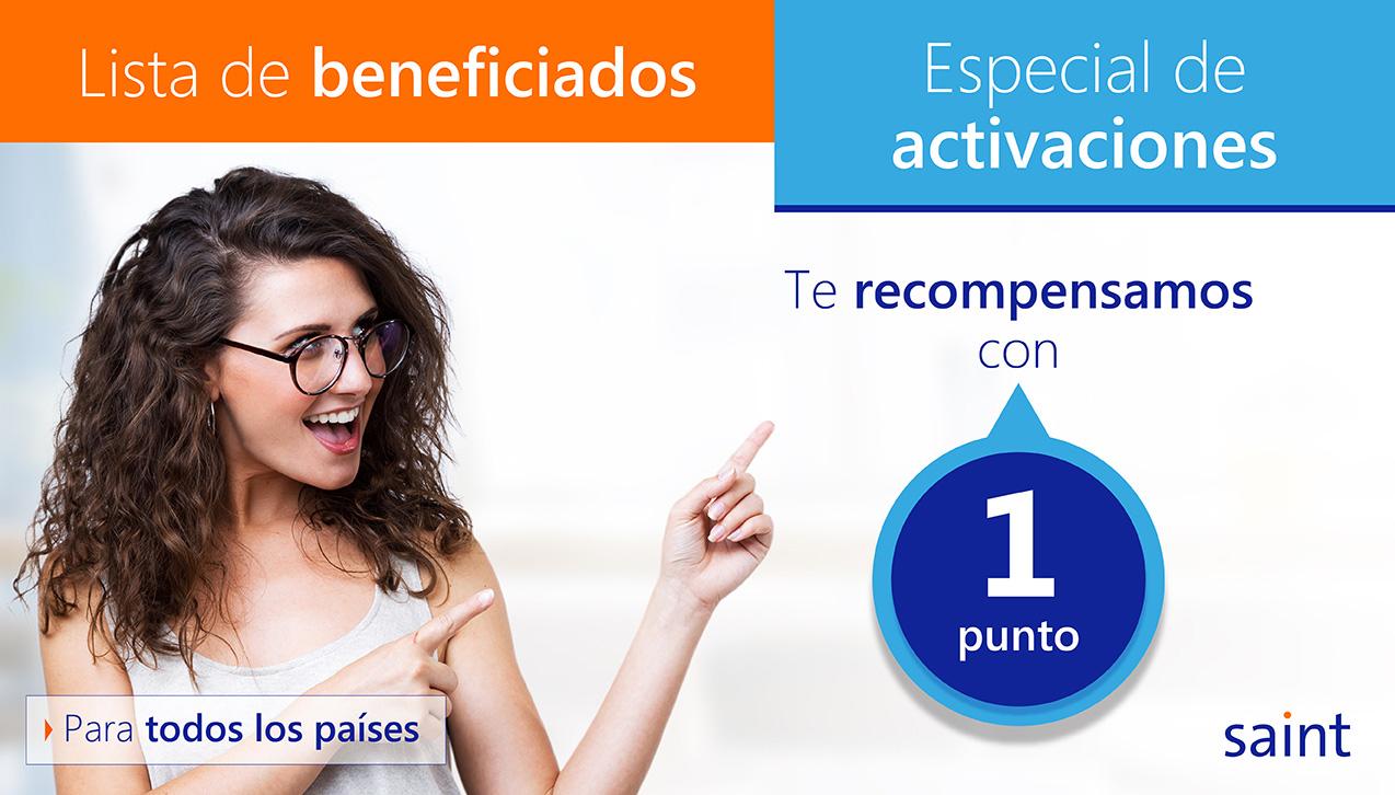 """Lista de beneficiados del especial de ACTIVACIONES """"te recompensamos"""" octubre 2018"""