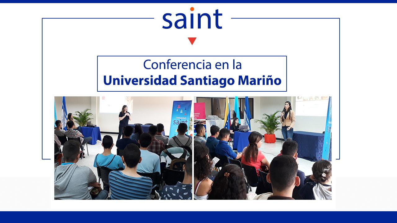 Conferencia en la Universidad Santiago Mariño