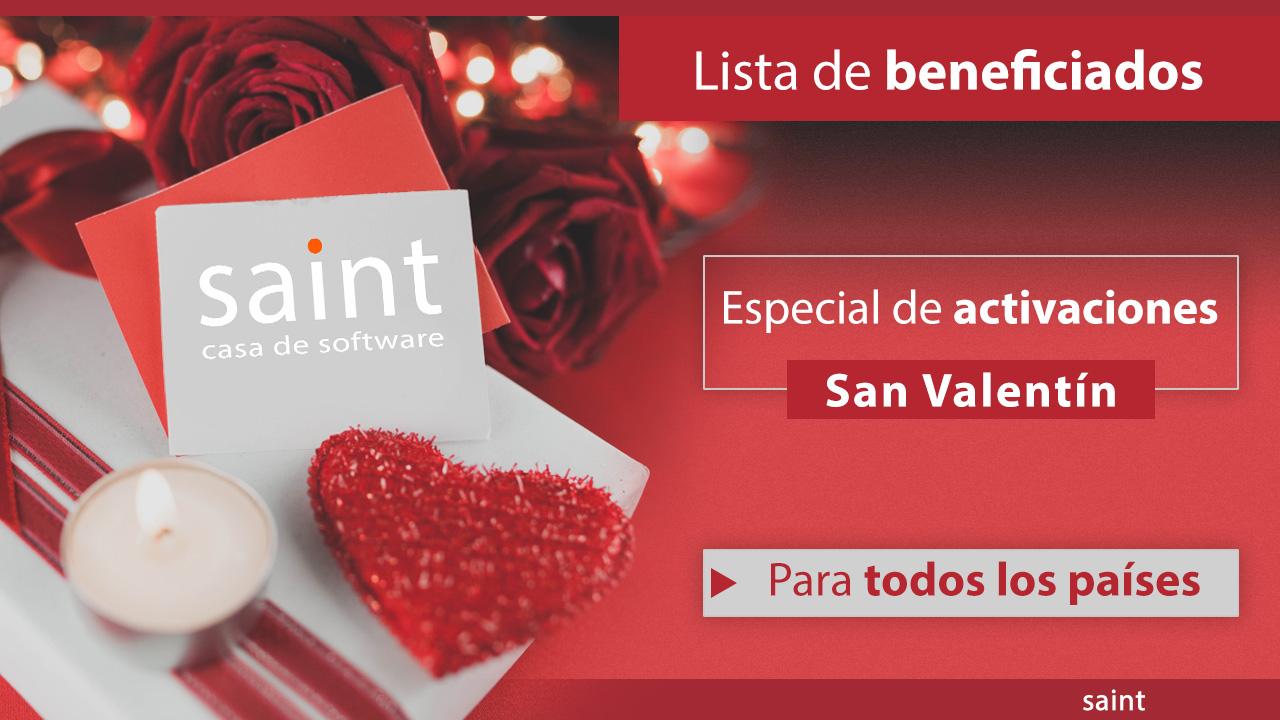 Beneficiados del especialSan Valentín 2019