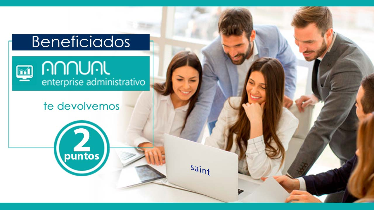 Beneficiados Annual enterprise te devolvemos 2 puntos