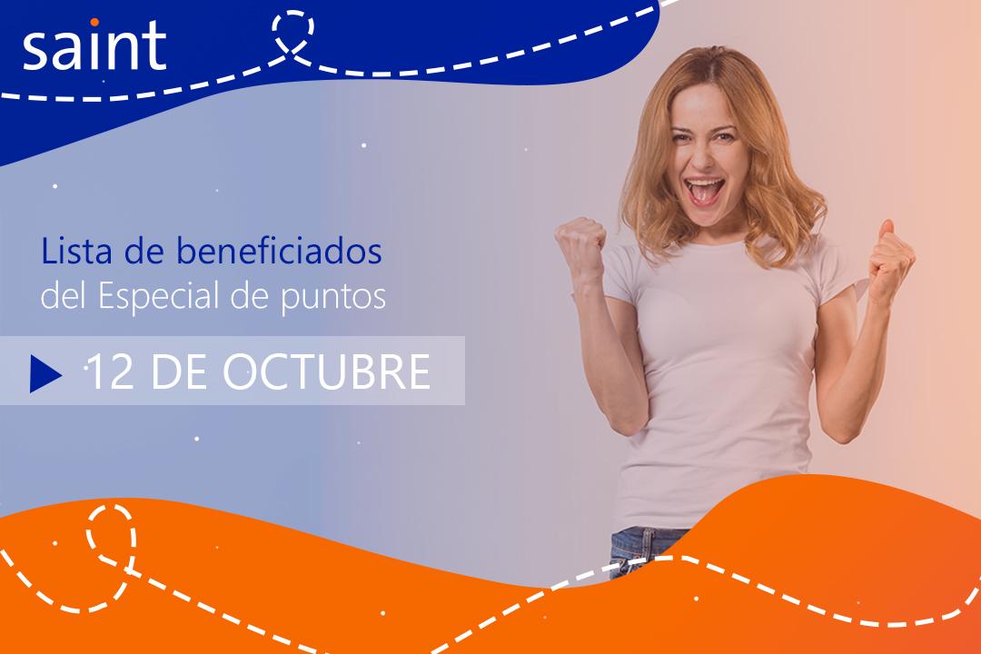 Beneficiados del especial de activaciones Octubre 2019