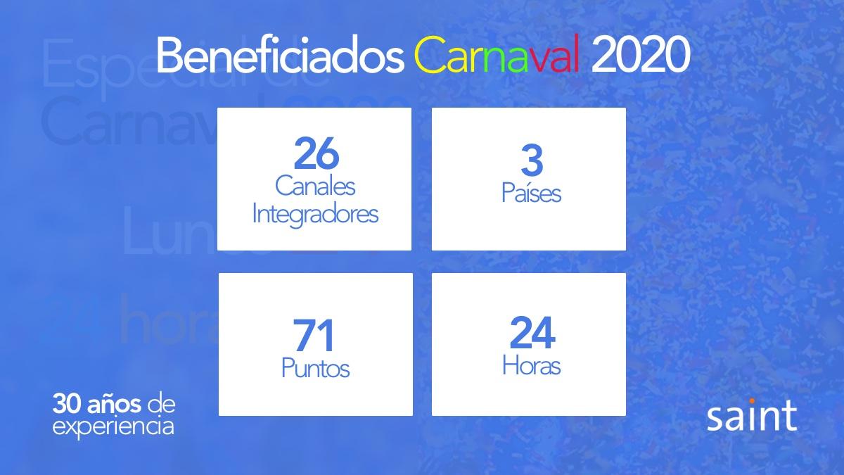 Beneficiadosdel Especial de Carnaval 2020