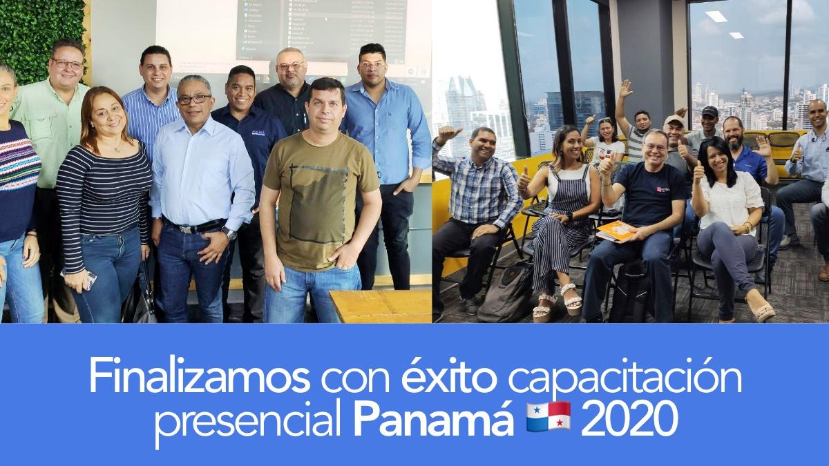 Culminamos jornadas de capacitaciones presenciales en Panamá 2020
