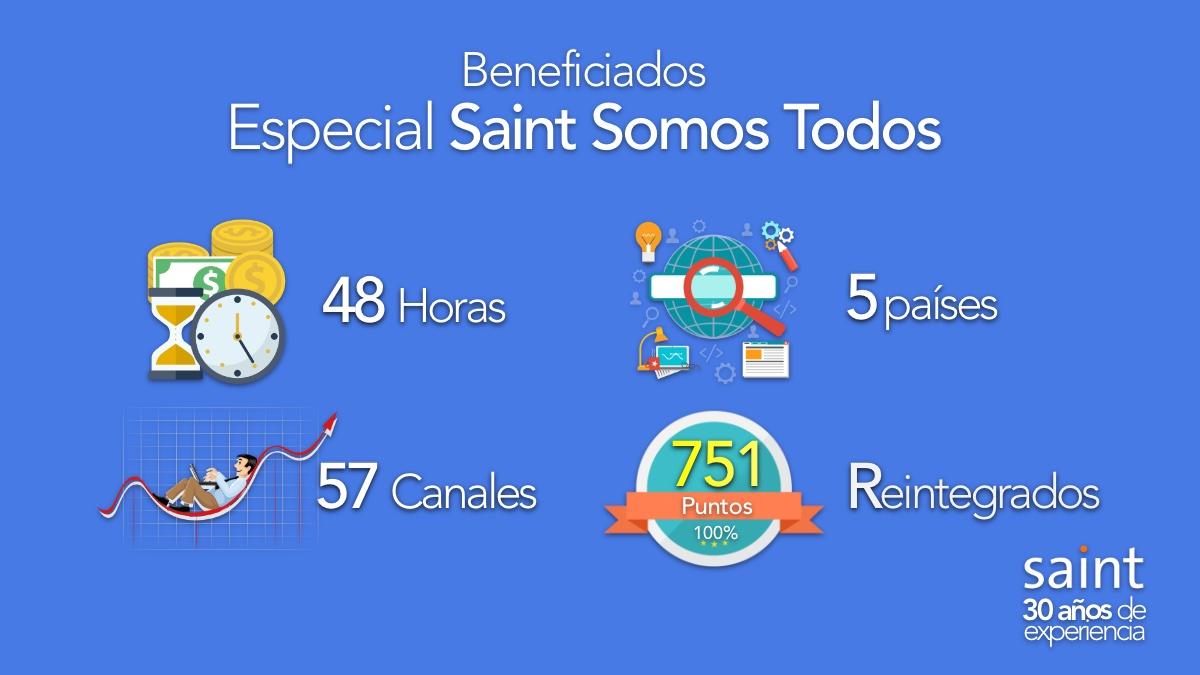 Beneficiados del Especial Saint Somos Todos