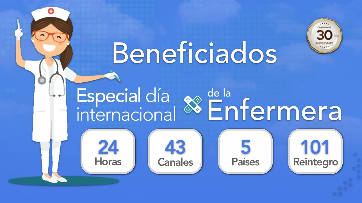 Beneficiados del Especial Día Internacional de la Enfermera
