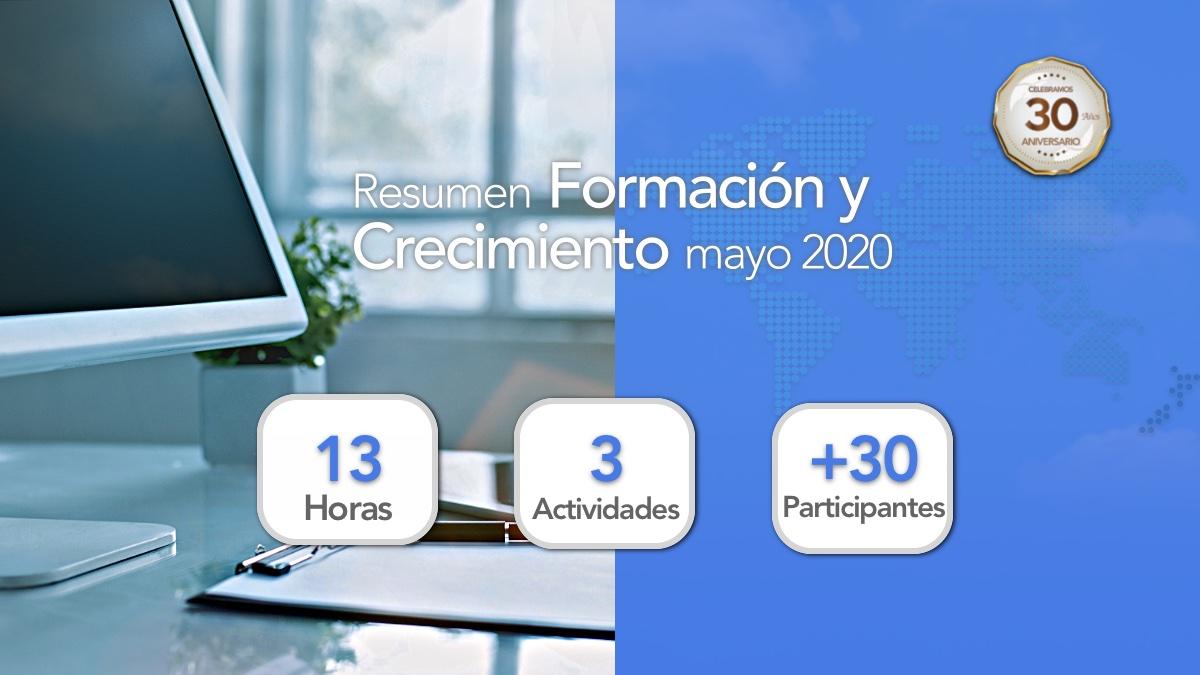 Resumen Formación y Crecimiento Mayo 2020