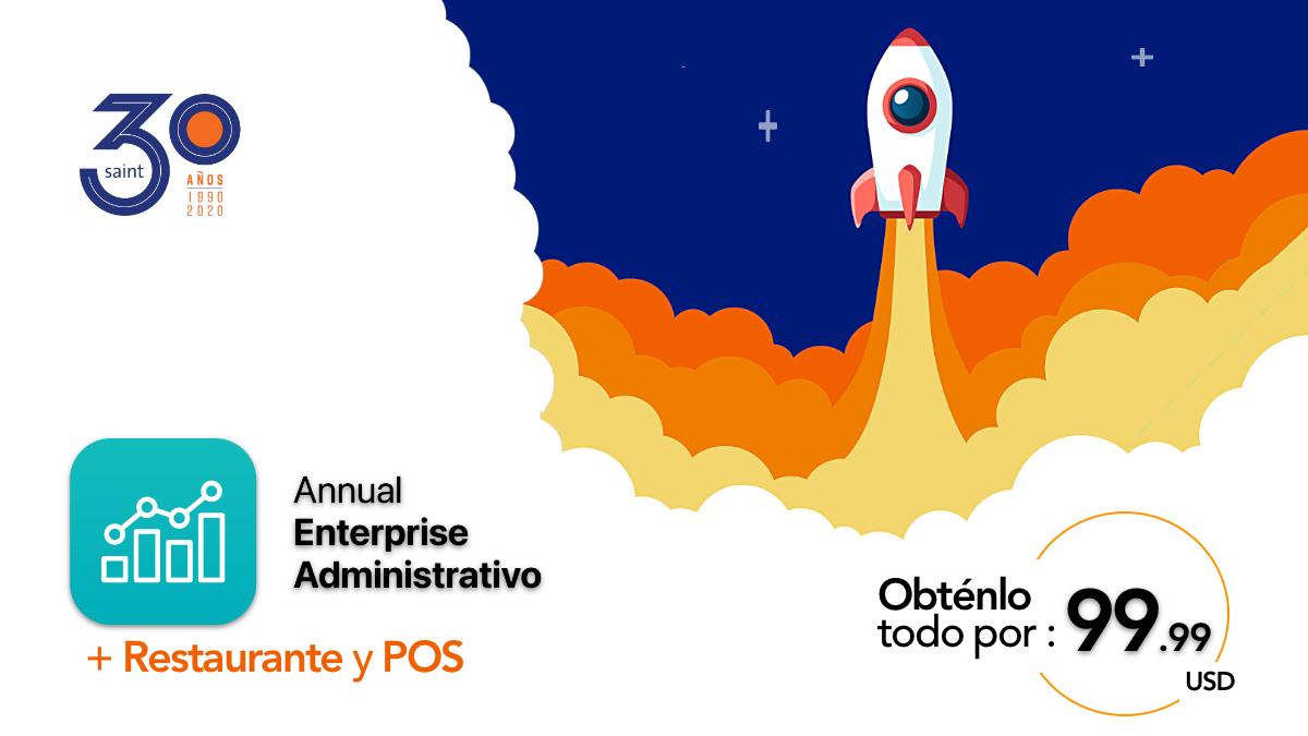 Noviembre de Annual enterprise administrativo + Restaurante y POS