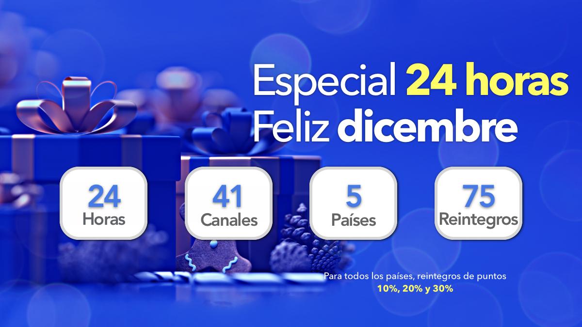 Beneficiados del especial 24 horas. Feliz Diciembre
