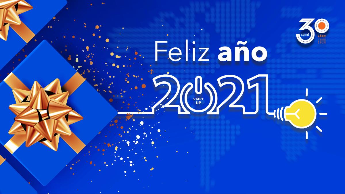 ¡Feliz año 2021 de parte del equipo saint!