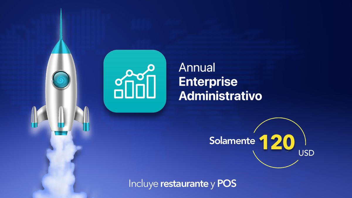 Annual enterprise administrativo + Restaurante y POS