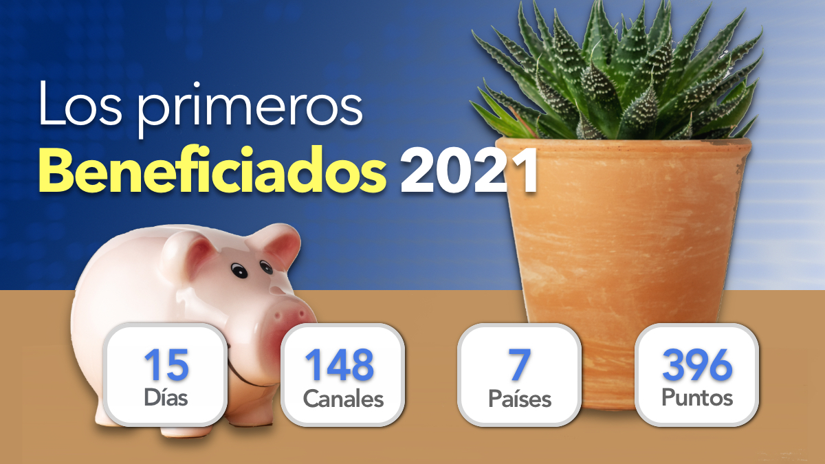 Los primeros beneficiados del 2021